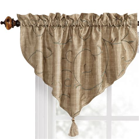Ascot Valance Shop Style Selections 20 In L Sand Ascot Valance At Lowes