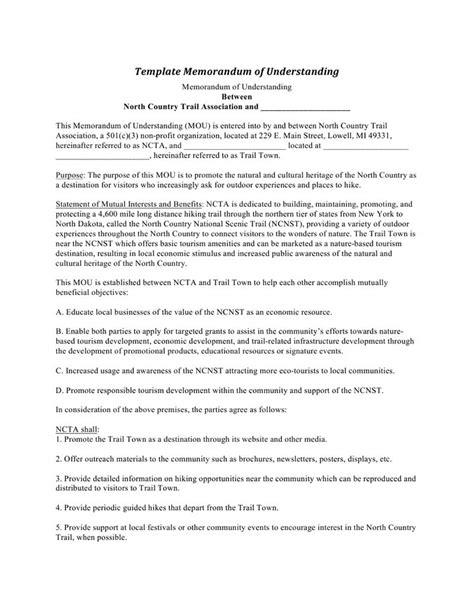 free mou template free memorandum of understanding software
