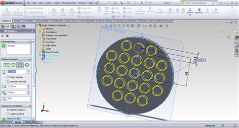 Solidworks Fill Pattern | tutorial fill pattern in solidworks grabcad