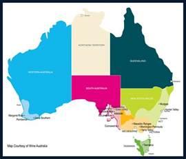 regional map of australia wine regions australia
