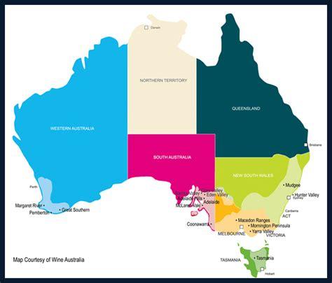 regional map of australia australia wine region