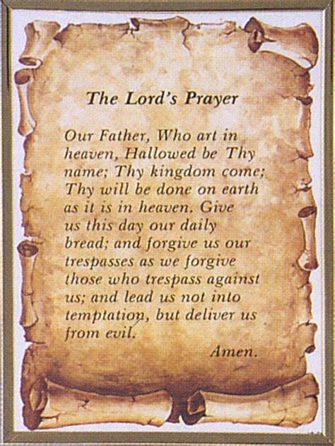 printable version of lord s prayer the lord s prayer framed print