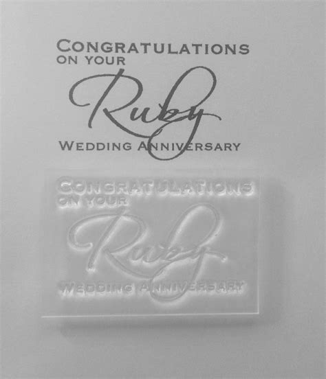 congratulations on your ruby wedding anniversary st
