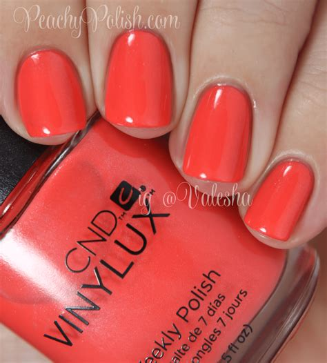 Cnd Vinylux Desert Poppy cnd vinylux 2014 open road collection swatches review peachy