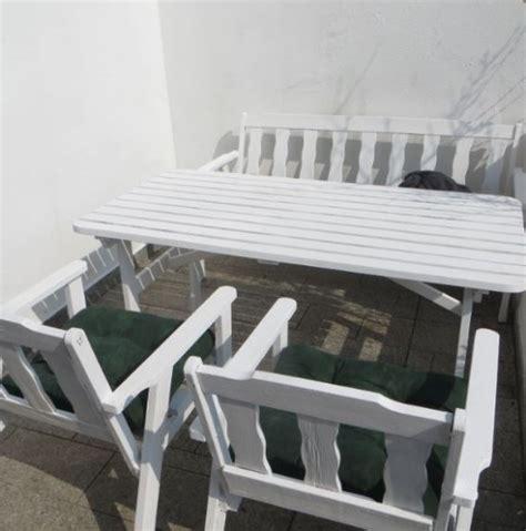 Gartenmöbel Weiß Holz Set
