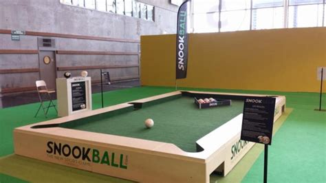 snookball a combination of billiards and soccer that