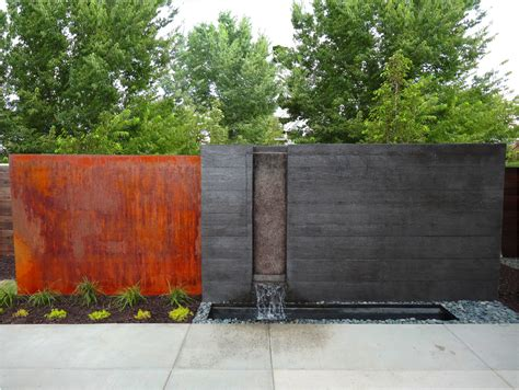 backyard walls 49 amazing outdoor water walls for your backyard digsdigs