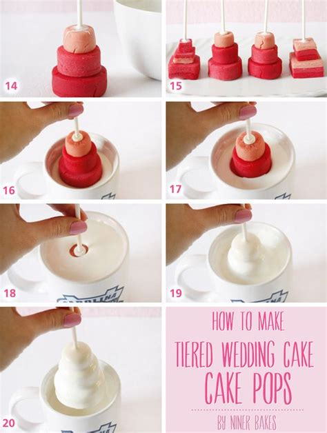 How To Make Wedding Cake by Tutorial How To Make Wedding Tiered Cake Pops By Niner
