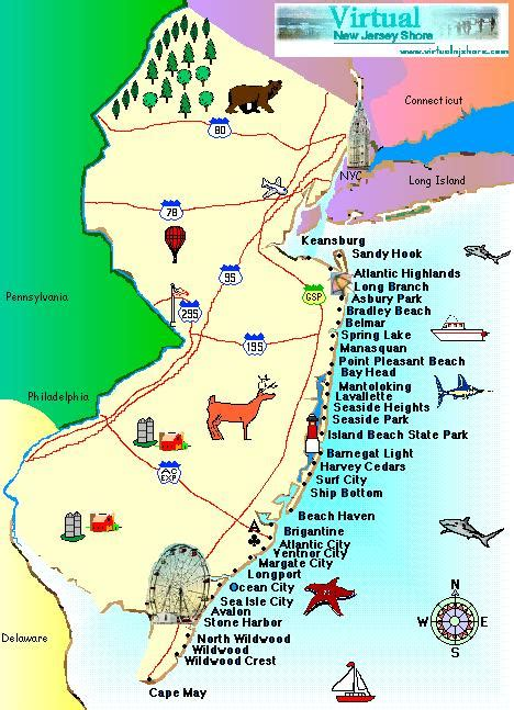 jersey shore map jersey shore tour