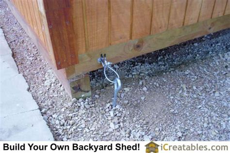 Ground Anchors For Sheds by Pictures Of Backyard Shed Plans Backyard Shed Photos