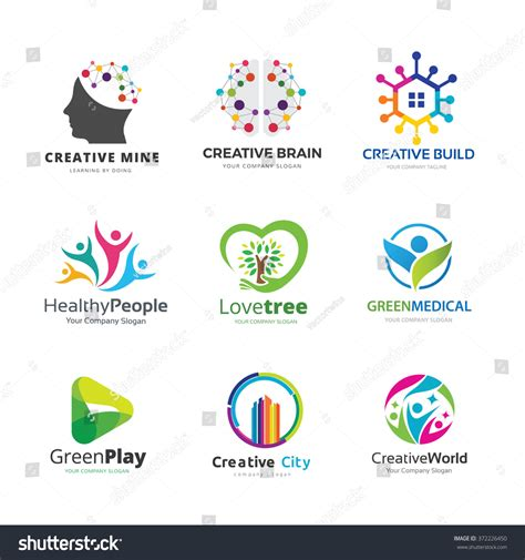 House Design Book Download Education Logo Collection People Family Icon Stock Vector