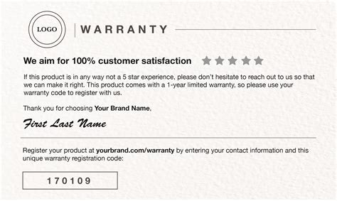 product registration card template warranty card template warranty card paper cover alca