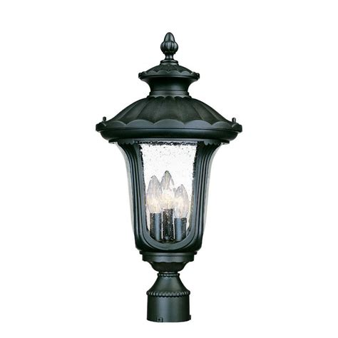 Acclaim Lighting Augusta 3 Light Matte Black Outdoor Post Outdoor Light Fixtures Home Depot