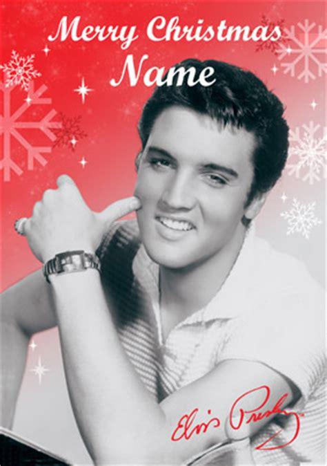wwwfunkypigeoncom personalised card elvis presley merry christmas card