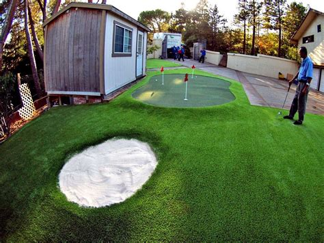 installing a putting green in your backyard artificial or synthetic putting greens installation