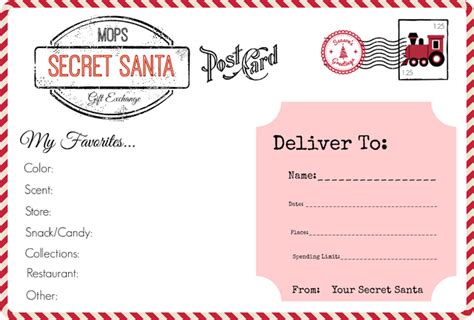 secret santa gift exchange template mops our secret santa gift exchange all