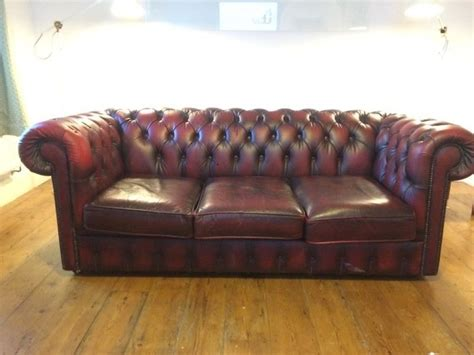 Sofas On Gumtree by Chesterfield Sofa On Gumtree Oxblood Leather 3 Seater
