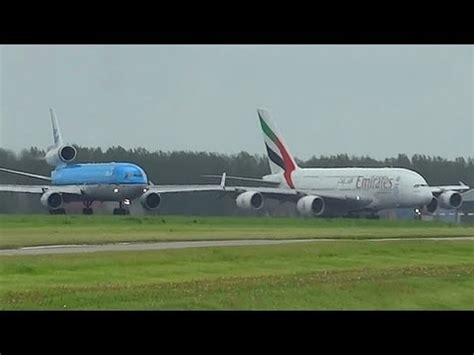 Md Vs a380 vs md 11 at takeoff form ams schiphol