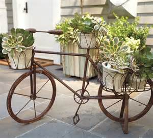 Cast Iron Planter by Bicycle Planter Eclectic Outdoor Pots And Planters