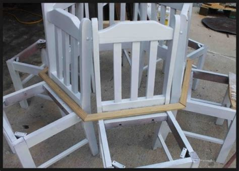 how to build a bench around a tree trunk creative ideas how to build a bench around a tree using old kitchen chairs i
