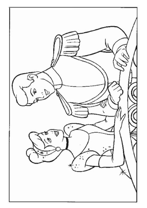 cinderella and prince charming free coloring pages