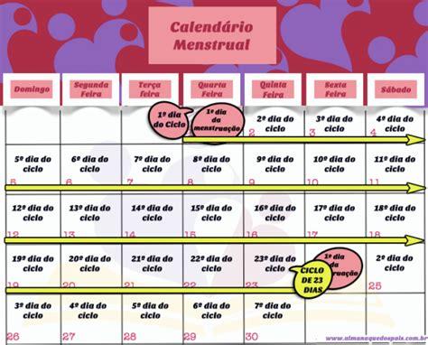 Ciclo Menstrual Calendario Como Calcular O Per 237 Odo F 233 Rtil De Quem Tem Ciclo Menstrual