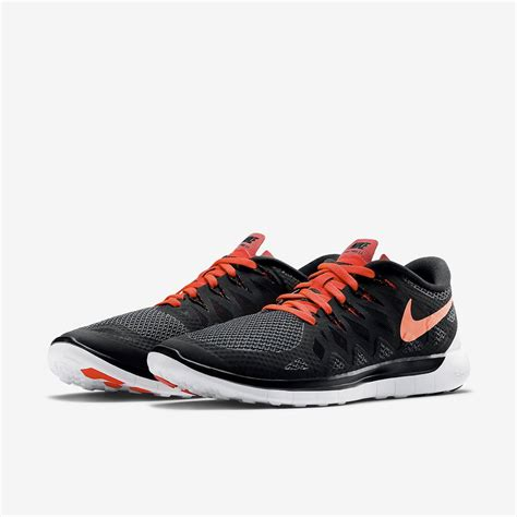 nike free mens running shoes nike mens free 5 0 running shoes black bright crimson