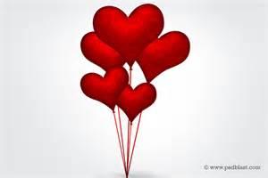 heart shape balloons valentine design psd psdblast
