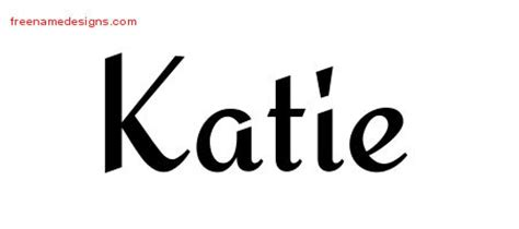 name katie tattoo designs calligraphic stylish name designs archives page
