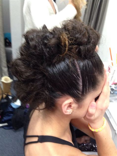 Edgy Bun Hairstyles | dance hairstyles mohawks and messy buns on pinterest