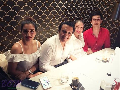 actor govinda family govinda family picture during a lunchtime pics bollywood