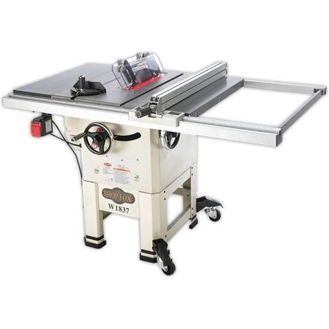 shop fox 10 2 hp open stand hybrid table saw w1837