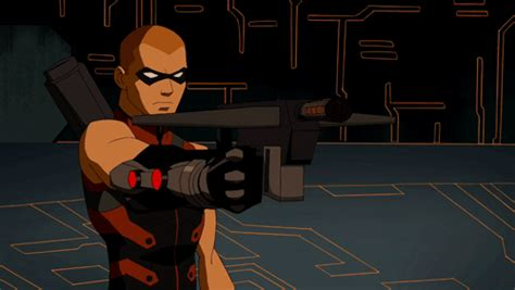 arsenal young justice war animated gif