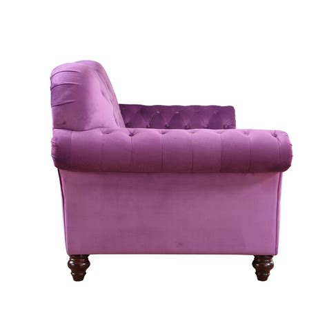 purple tufted couch purple classic tufted plush velvet victorian living room