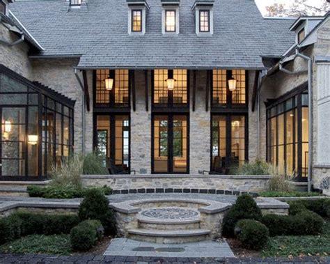 black framed windows house dark window trim home design ideas pictures remodel and decor