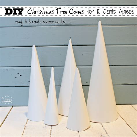 How To Make Paper Cone Trees - how to make tree cone craft forms for 10 cents