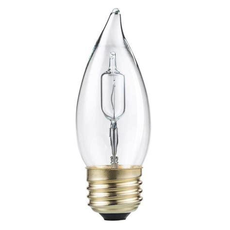 Lu Philips 40 Watt philips 40 watt equivalent halogen ba11 bent tip candle