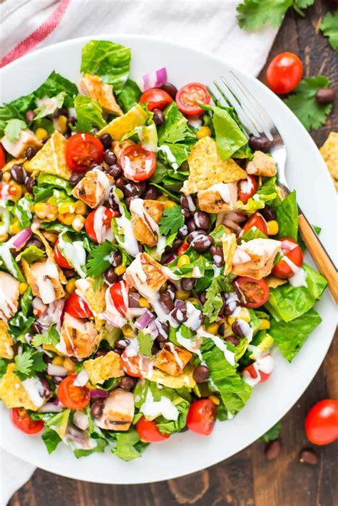 healthy salad recipes bbq chicken salad with creamy ranch