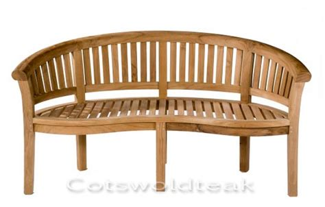 curved garden bench cushions teak curved banana bench crummock