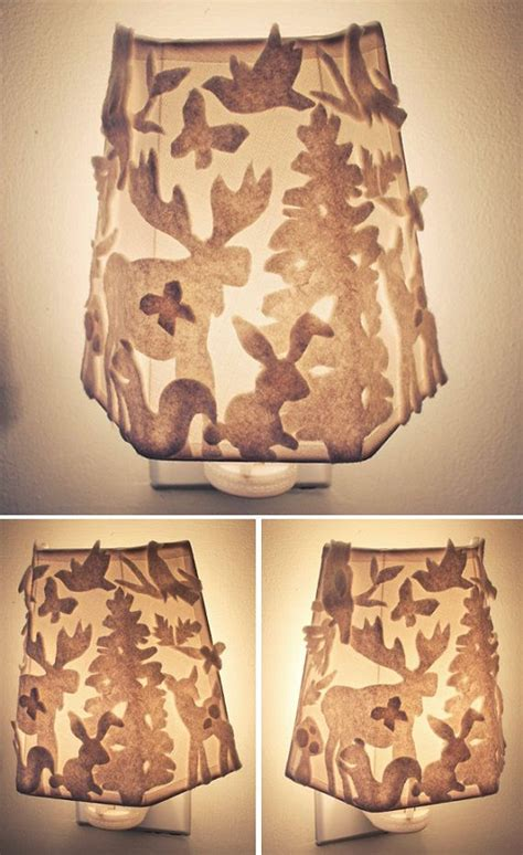 woodland nursery light fixture nursery light woodland light felt forest
