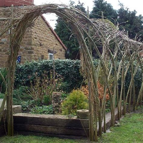 Garden Arch Made From Branches Living Willow Hedges Nifty Homestead