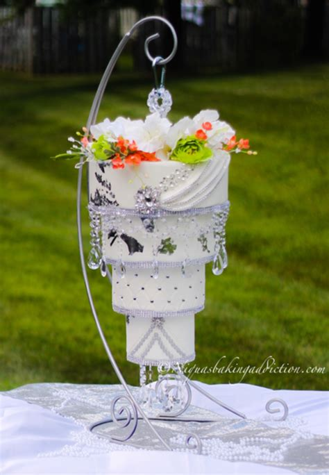 chandelier wedding cake cakecentralcom