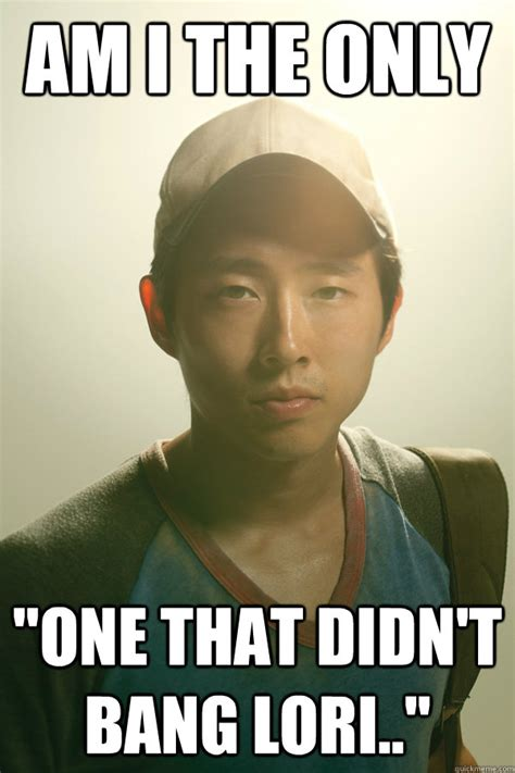 Lori Walking Dead Meme - glen first korean guy to get laid on a tv series finally