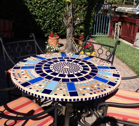 Home Furniture And Decor Mosaic Patio Table Top