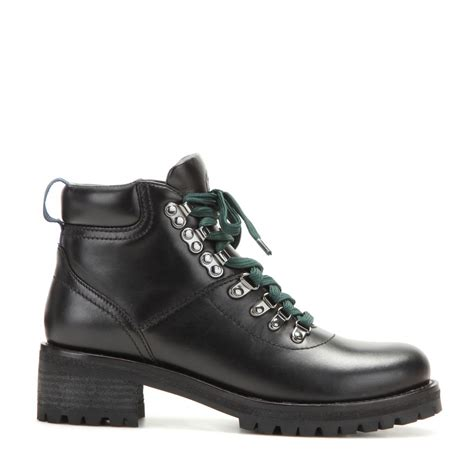 burch black boots burch gunton leather ankle boots in black lyst