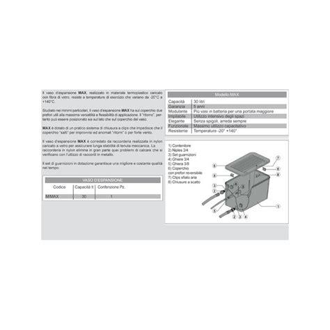 vaso espansione aperto vaso espansione in pvc aperto per camino lt30 nero con