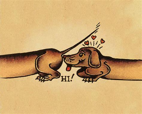 jerry dogs sailor jerry hi sausage metal tatto wall sign retro