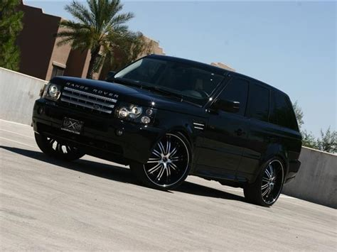 black chrome range rover black range rover sport but with black rims instead