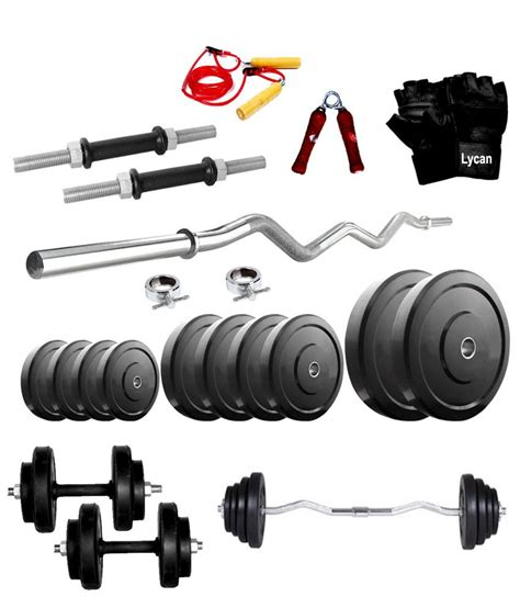 Dumbell 8 Kg lycan home 8 kg rubber weight 3 curl rod dumbbell rod s gloves gripper rope