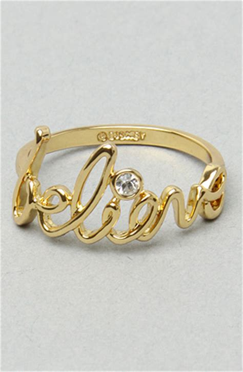 disney couture jewelry thebelieve ring in gold karmaloop